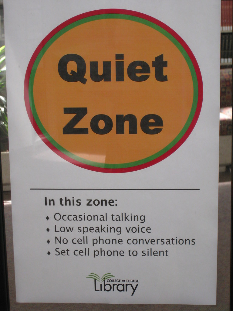 In the Quiet Zone... | C.O.D. Library | Flickr