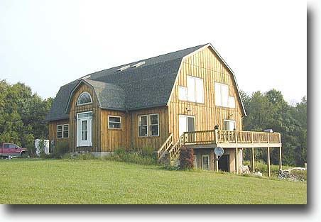 Gambrel roof barn house flickr for Gambrel barn plans with living quarters