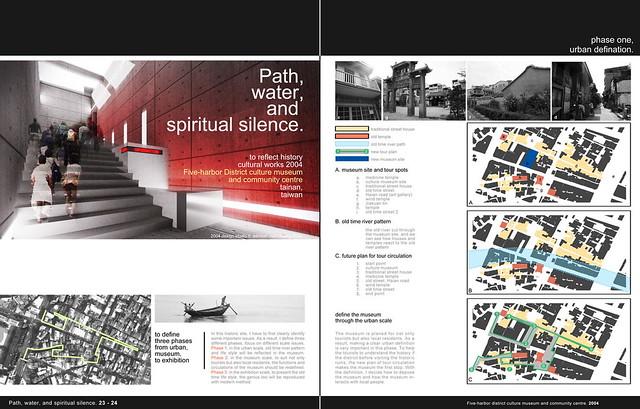 architecture portfolio layout