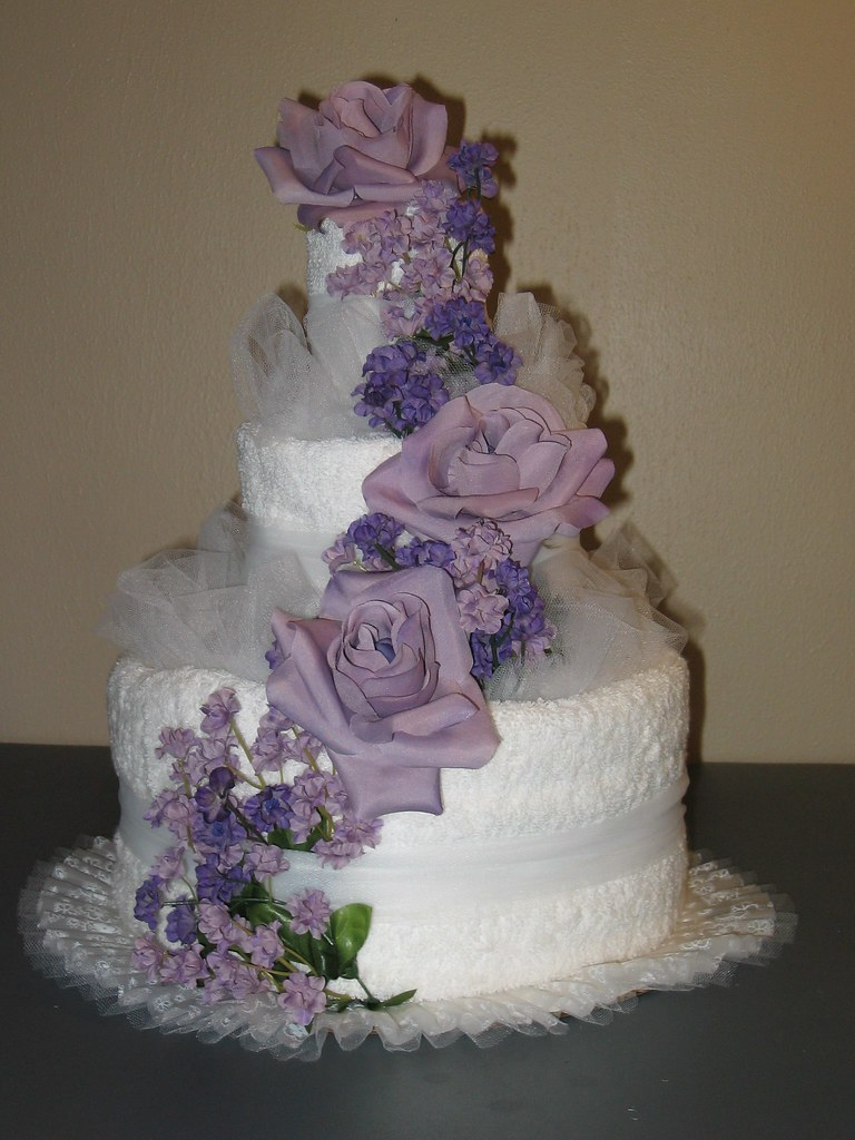 Wedding Shower Towel Cake