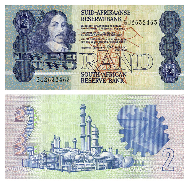 Old 2 Rand note | An old South African 2 Rand note (ZAR) fro… | Flickr