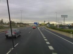 Un Volskwagen en la carretera