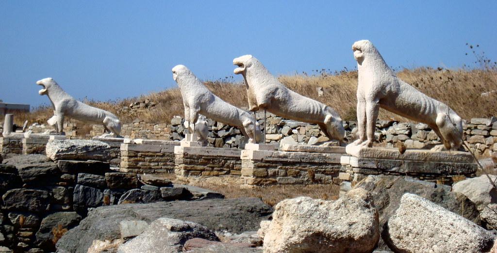 The Naxian Lions Terrace of Delos (Δήλος - Άνδηρο Λεόντων ...