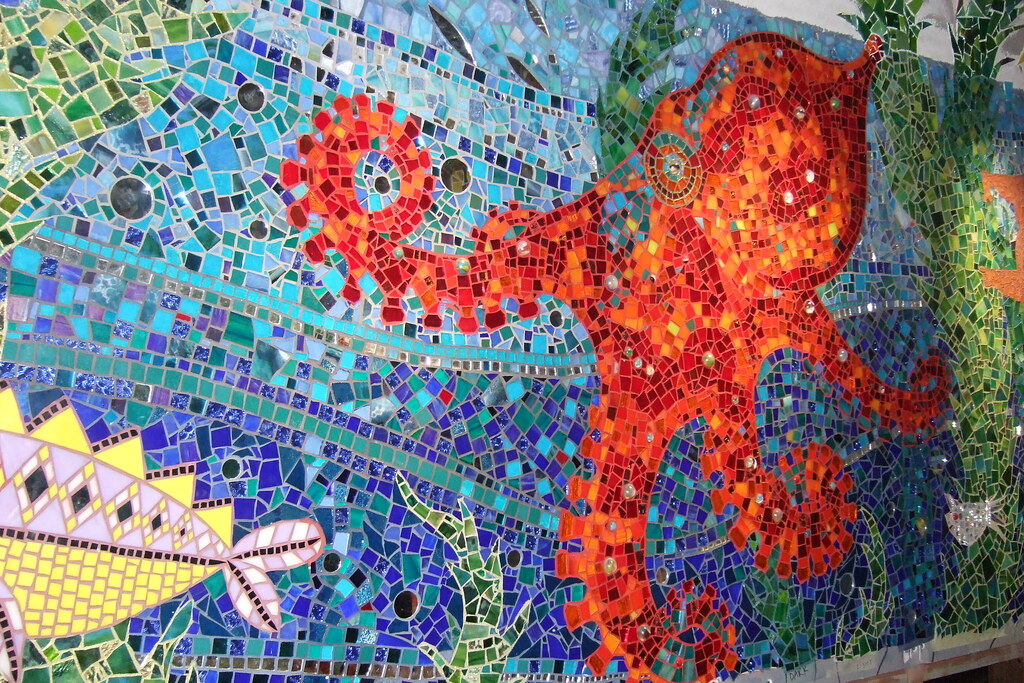 Bathroom Mosaic Octopus Gaudi S Submarine At Granny S