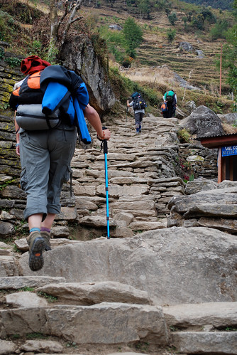Jomson Trek - the horror of the stairs from Ghorepani | by Deadly Knitshade