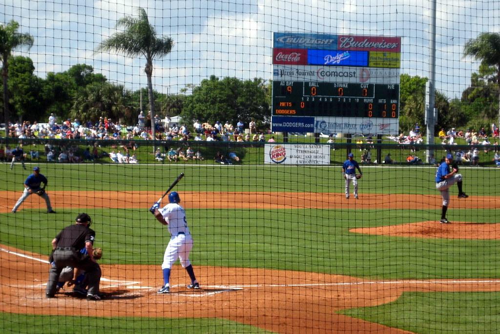 Florida Vero Beach Holman Stadium Mets Vs Dodgers