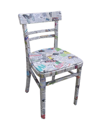 55 365 Crafting Newspaper Chair Flickr Photo Sharing