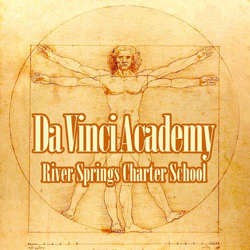 da vinci academy logo designed for river springs charter