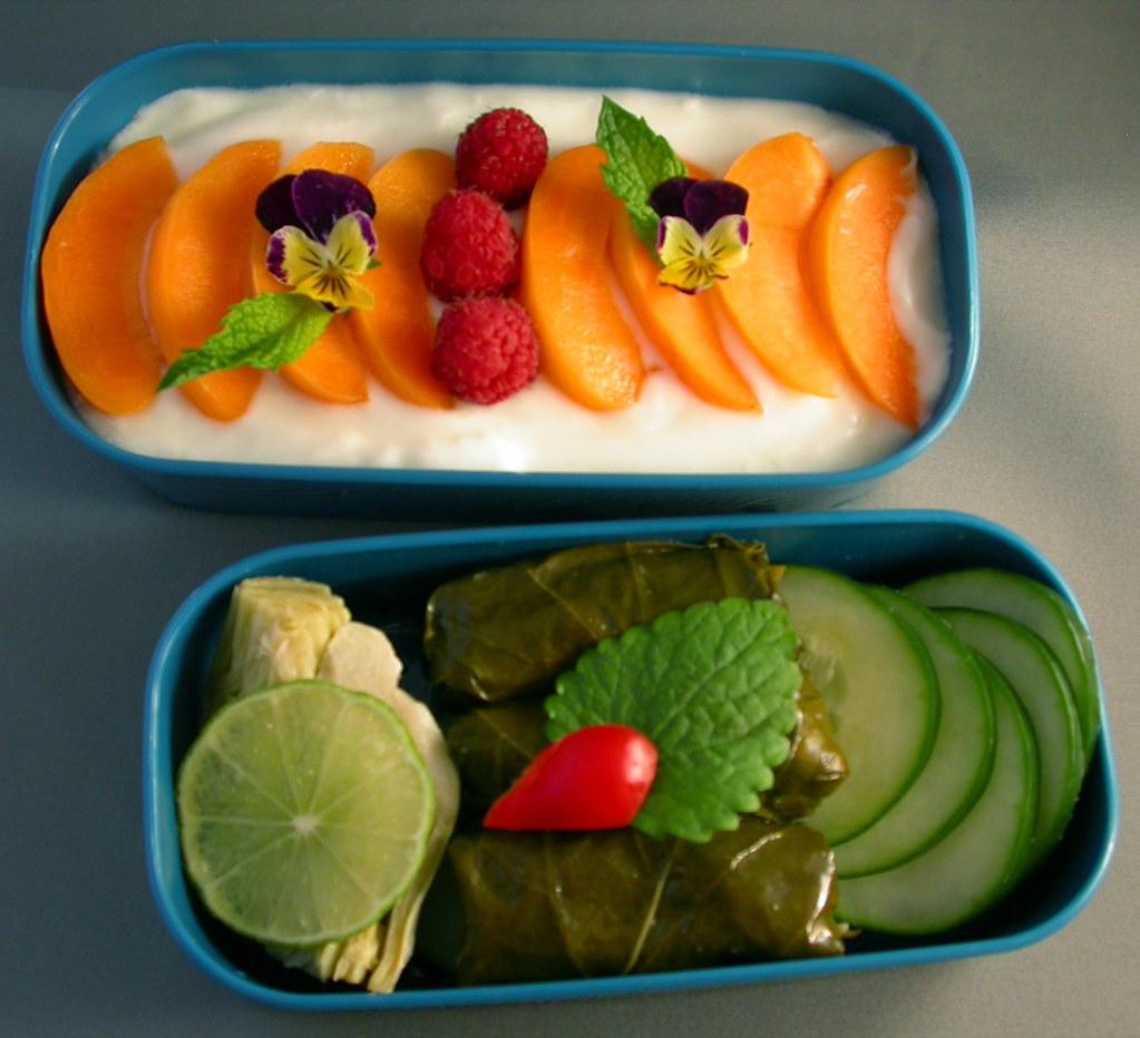 6/22/08 Bento-licious Brunch | Top: Plain, non-fat yogurt ...