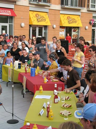 Veggie Hot Dog Eating Contest