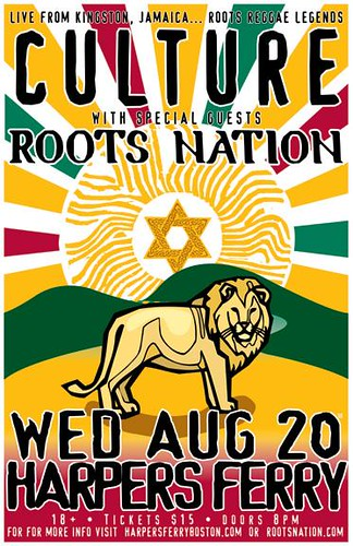 Culture Reggae Group Poster | This Wednesday 8/20, reggae ...
