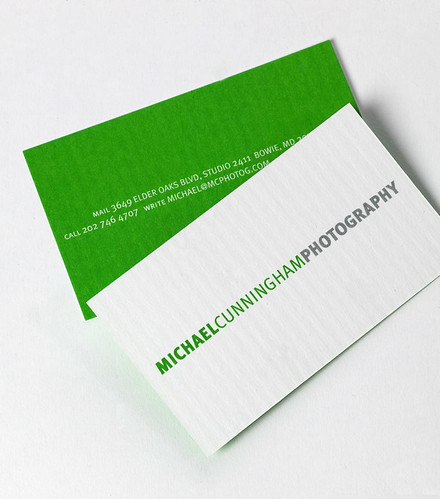 Michael Cunningham Photography Business Card | by cmdshiftdesign