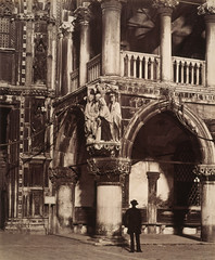 Angle of the Portico of the Ducal Palace, Venice - with carving of 'The Judgment of Solomon'