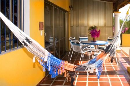 Apartment patio w hammock villa gaviota flickr for Hammock for apartment balcony