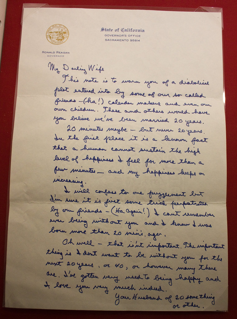 Ronald And Nancy Reagan Love Letters