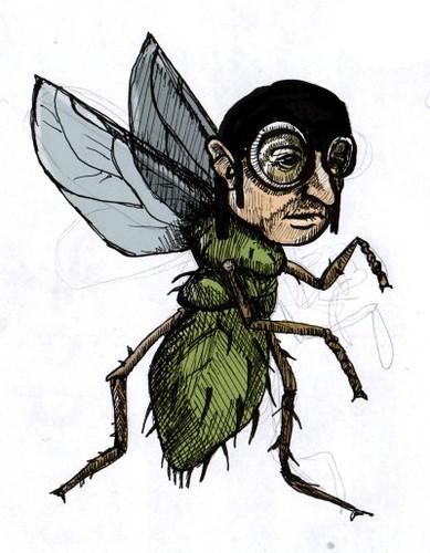 Homme mouche un dessin inspir d 39 une phrase trouv e sur - Dessin de mouche ...