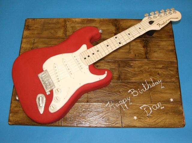 Bass Guitar Cake Template
