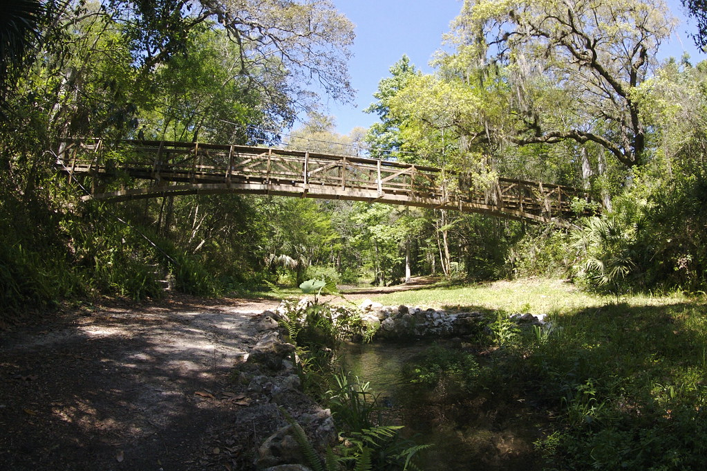 Ravine Gardens Suspension Bridge Just Outside Palatka Flo Flickr