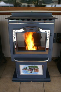 A Harman wood pellet stove | by WNPR - Connecticut Public Radio