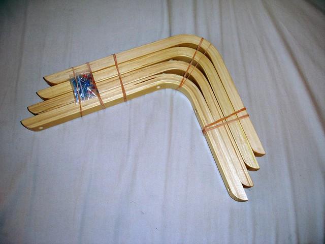 Shelf Brackets Photo 1 Laminated Bent Wood X4 With