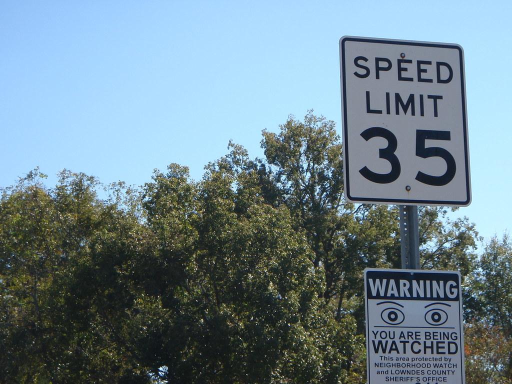 Speed Limit 35 Neighborhood Watch - John S. Quarterman - Flickr