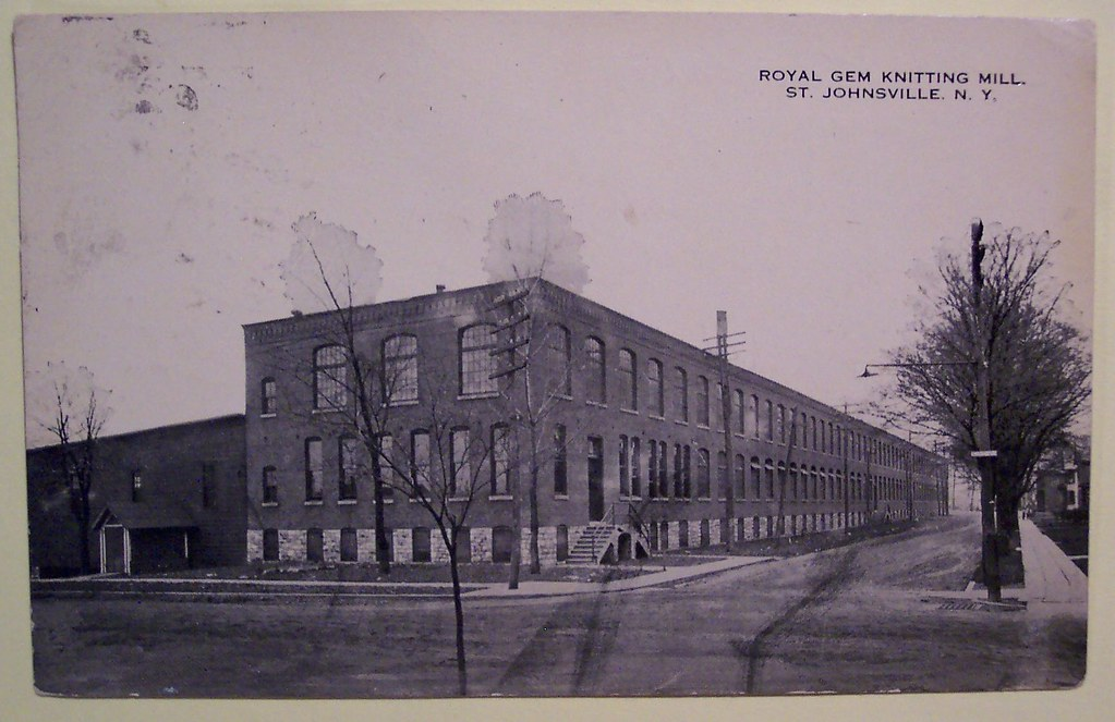 vintage postcard royal gem knitting mill st johnsville n