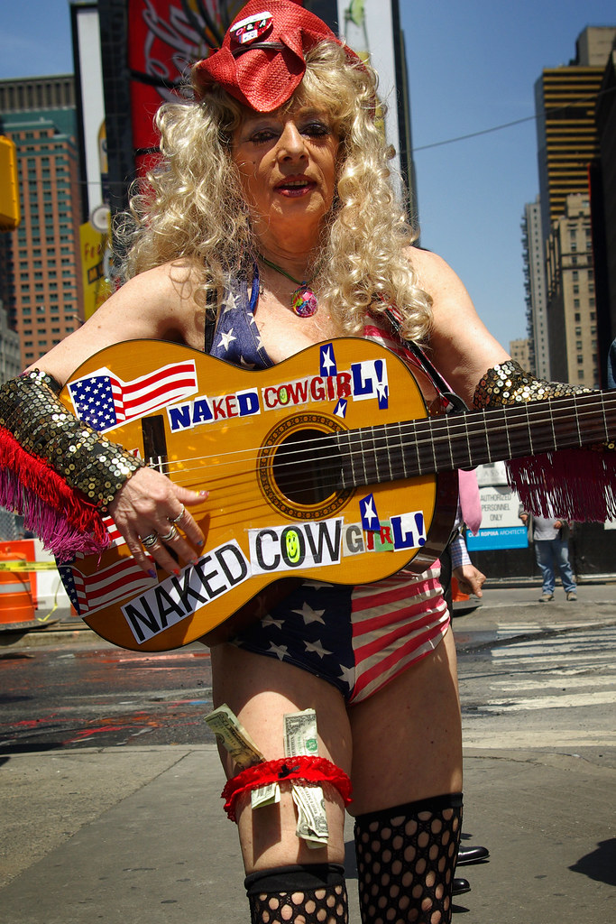 The Naked Cowgirl of Times Square | I never heard her play