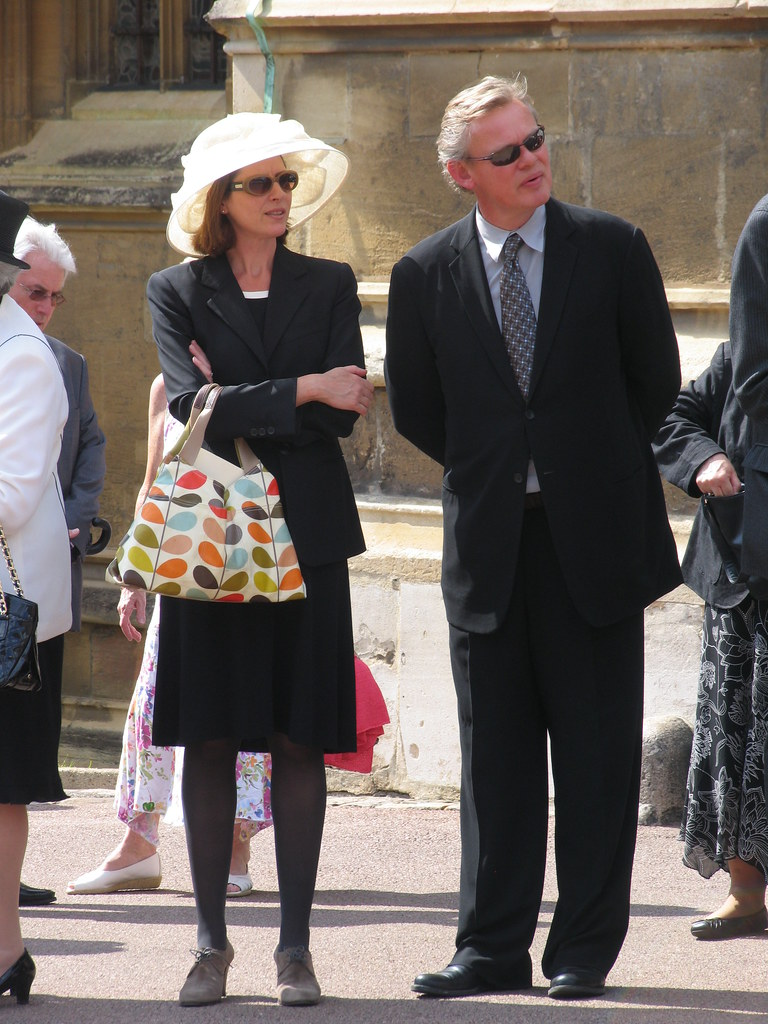 martin clunes and partner at the garter procession
