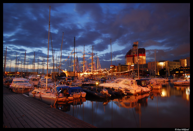 G 246 Teborg City Marina At Midnight To Quote A Well Known