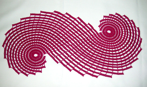 Russian Spiral Doily - Magenta   I have done three of this ...