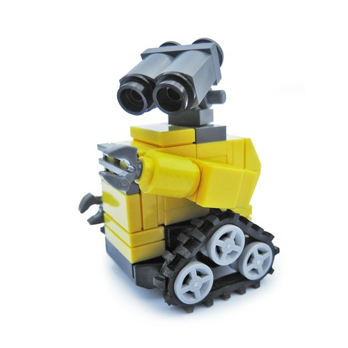 simple lego wall e my take on a small scale wall e. Black Bedroom Furniture Sets. Home Design Ideas
