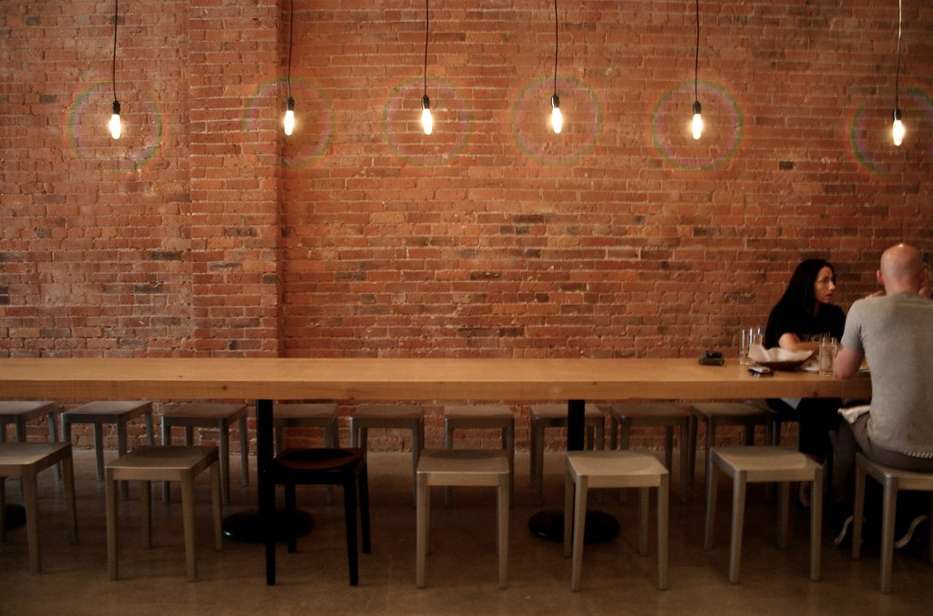 Long table salt tasting room flickr - Restaurant communal tables ...