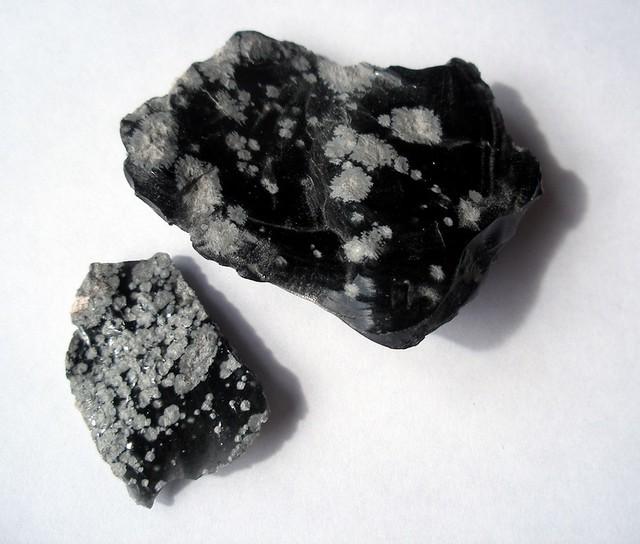 White Snowflake Obsidian : Snowflake obsidian the snowflakes are inclusions of