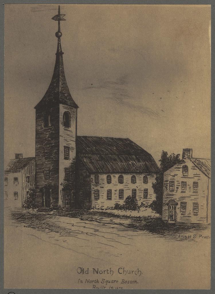 old north church in north square  boston