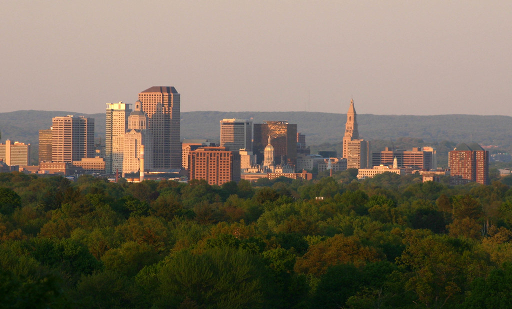 View Of Central Hartford Ct From West Hartford From