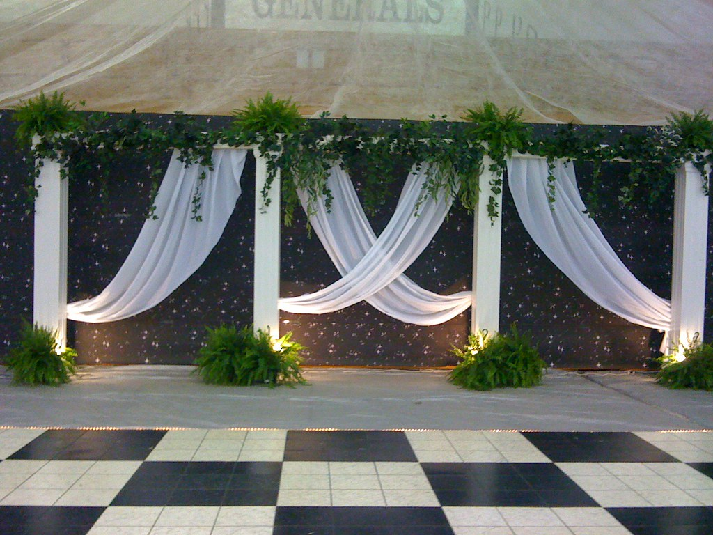 Back Drop Prom Theme Of Grecian Gardens We Did This