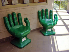 Green Hand Chairs ~ Recycled plastic PET  bottles | by Urban Woodswalker