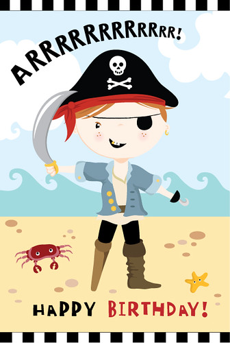 Pirate Ship Birthday Cake Template