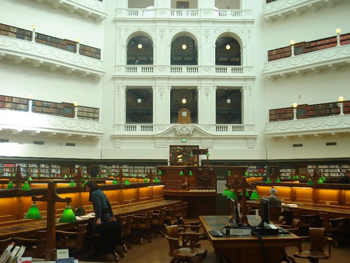 Victorian State Library reading room, 2008.