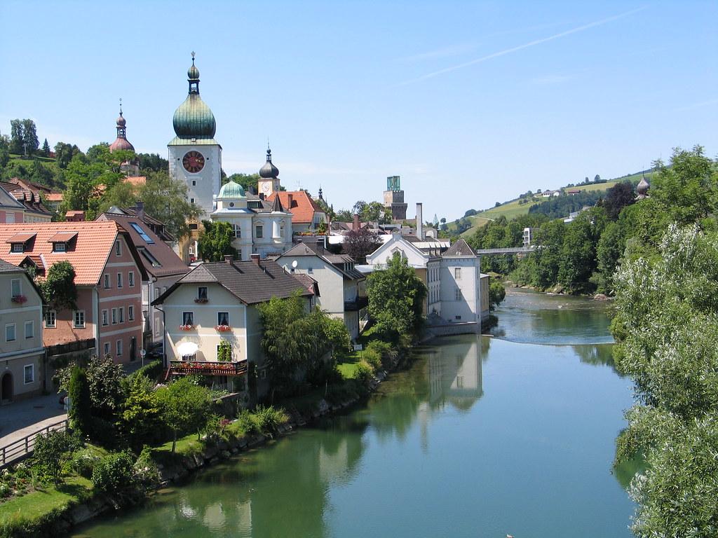Waidhofen An Der Ybbs Austria Blick Von Der Zeller
