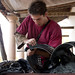 cleaning Roman armour