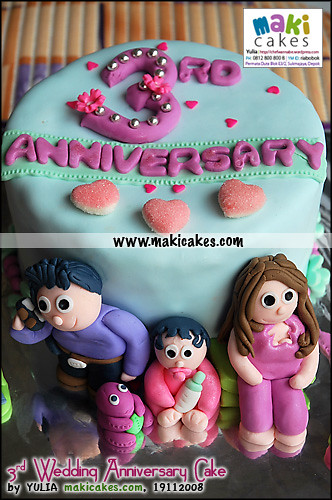 Wedding Anniversary Images >> 3rd Wedding Anniversary Cake for Olivia - Maki Cakes | Flickr