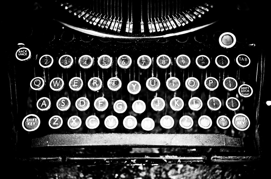Typewriter B/W....now write the story. | THOR | Flickr