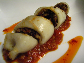 Grilled Morcilla Stuffed Squid with a Spicy Sauce | by SeppySills