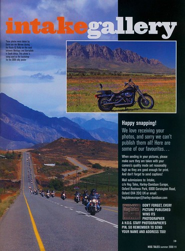 My photos published in international harley hog tales for How to get my photographs published