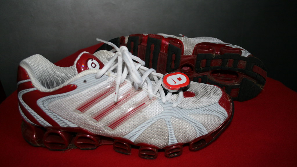 Adidas Red White And Blue Running Shoes