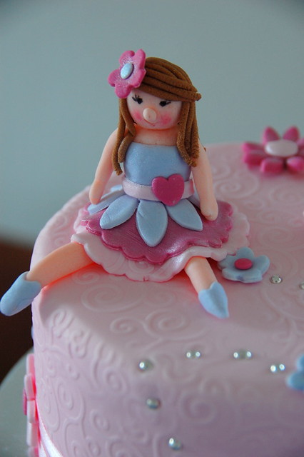 Little Girl (fondant) Klaire with a Cake Flickr