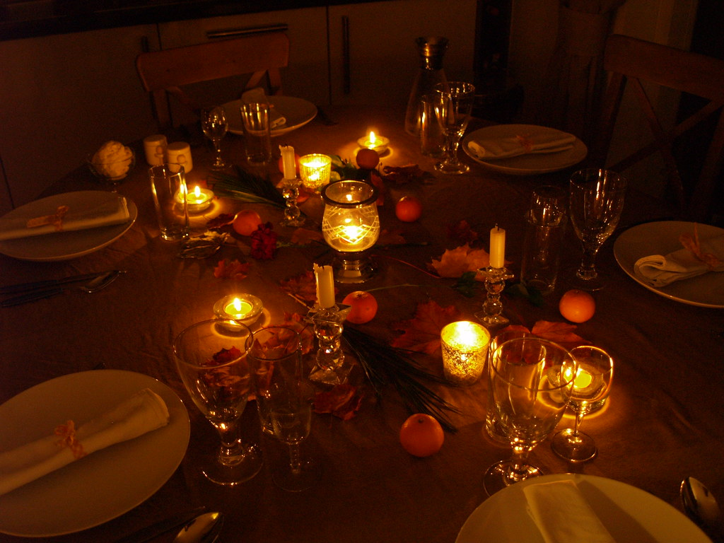 Autumn Table Decoration John Dave Katie And Caroline