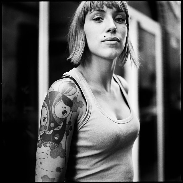 Portrait de rue - Tattoo, percing, etc. | Hasselblad 500 C ...