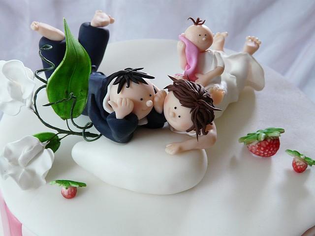 Fimo Brautpaar Auf Hochzeitstorte Mit Wicken Und Erdbeeren Flickr